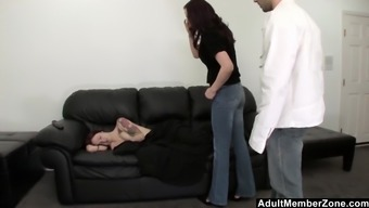 Baby sitter pleasured while she rests