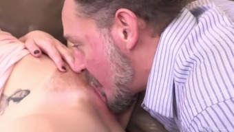 Katy Smack advances her both legs to produce a grow older lover's challenging angle