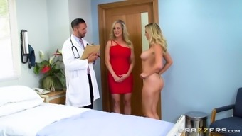 Brandi Not only enjoy but Brett Rossi join forces to produce a shag along with a striking health professional