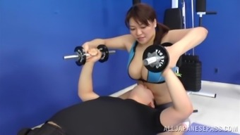 Placing Japanese Girl Goes Extreme Along with A pair of Sportive Males
