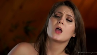Damn great buxom Lena Nicole is fully into lesbian love-making outdoors