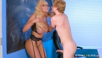 Nicolette Shea is basically a horny tutor yearning an erected angle