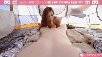ts vr porn-jessi uae is getting it hard in the butt and wonderful the tent outdoor 360 vr adult material