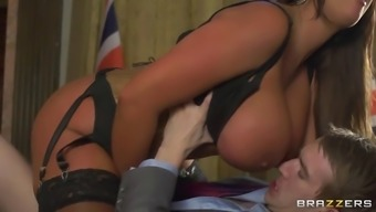 great breasted pornstar emma butt likes his large cock stretching her crimson broad