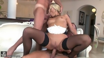 name courtney sucking one cock while anally riding the opposite
