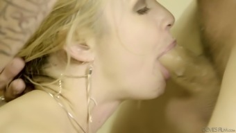 Horn-mad big tits secretary Sarah Vandella need to get her soppy pussy licked