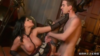 big tittied babe abbie feline normally takes serious pussy thumping making her ejaculate