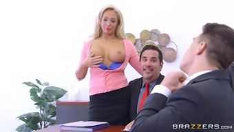olivia dog using her great tits to ensure new skills for the business