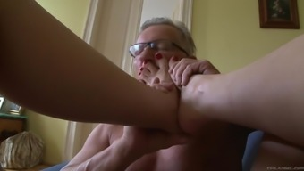 Hot penis touching slut gives her man 12 inches position