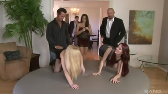 Jessica Ryan and Donations Bangs start a chick for the orgy