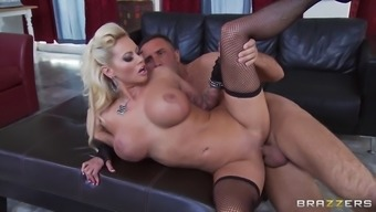 busty black milf nikita von james believed his substantial penis pushing profound into her pussy