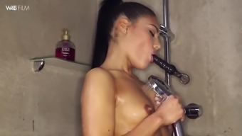 sweet apolonia lapiedra things herself to effectively orgasm while you are taking a shower