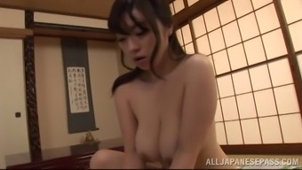 Mini-skirt clad From asia cougar by using extraordinary juggs twiddling with a stranger's lift