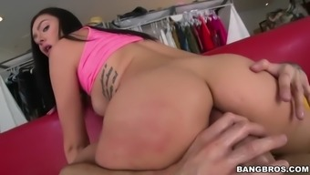 large cock scarcely can suitable marley brinx's veteran booty