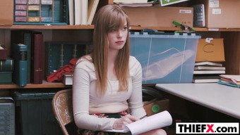 Adorable young adult Dolly Leigh bring the thievery punishment