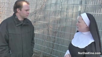 German born Young Dude seduce Granny Nun to actually Fuck Him