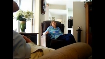 Man strokes his cock while speaking with a nan