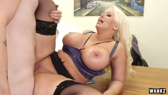 Curvaceous female boss Alura Jenson fucked within the missionary pose at work