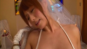 Japanese people future bride in panties treasured along with big dongs serious