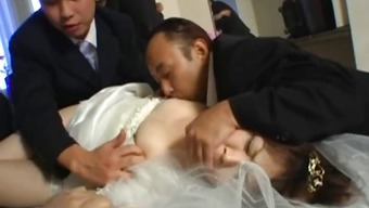 From asia future bride gets hardcore group fucking part1