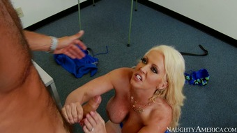 Enormous big tits blond sex bomb Alura Jenson you're pleased with ravenous Danny Mountain by using stout BJ