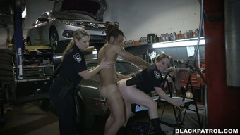 Immoral and horny cops fuck handsome specialist in threesome