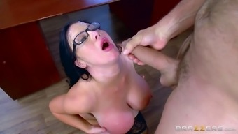 Huge titties study hooker and her person-in-charge fuck with the use of committment