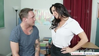 Hot coach Lezley Zen requests her scholar to conquer her moist pussy