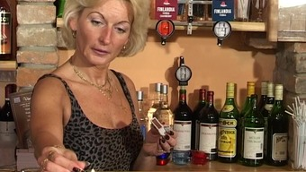 Slutty granny remarkable to really strong peak at the pub within a possibility burst