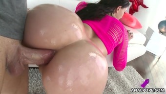 Vast round stupid ass choked with excess weight lift - Mandy Think