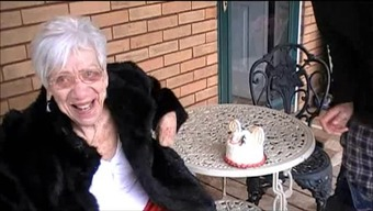 Grany Marge gets boy penis for her ninetieth wedding anniversary