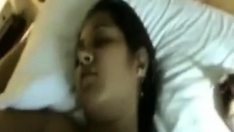 Gorgeous girl friend after party then on hotel room, he