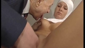 Heated Bodied Nun Gets Fondled By Tainted Old Adult man !