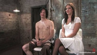Horny Bobbi Starr Factors Man to produce a Over the edge Phallus Cycle in Femdom Slavery