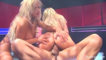 Busty Shyla Stylez gets down within the hot threesome
