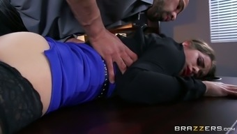 Changed person-in-charge seduces young secretary and offers her words position