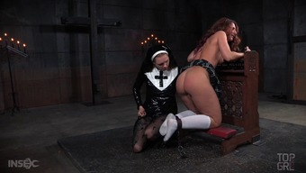 This grow older redhead has been very kinky and the nun is going to crack down on her!