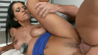 Abby Lee Brazil is having a nice sexual intercourse by using a naughty law enforcers