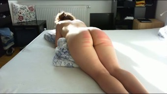 Kinky passive great bottomed partner of my buddy got her bum spanked