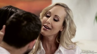 Buxom pale mother Brandi Love and her perverted Man are gonna provide challenging intercourse lesson to effectively lively dark chick