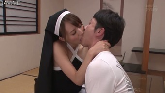 This lascivious Japanese nun desires me playing back with her nipples