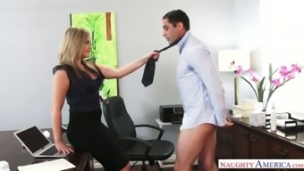 Fascinating supervisor Alexis Texas possesses a practice of fucking her employees