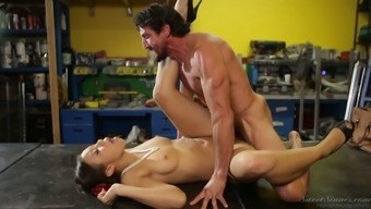Watch Adrian Maya make her lover's stiff penis inside a assortment of assignments