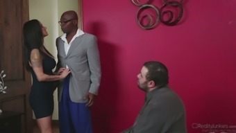 Nadia Looks turns out betraying on her cuckold hubby utilizing a black bf