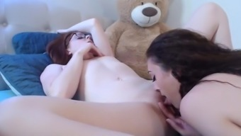 Beautiful Heated Lesbians Trouncing one anothers Pussy