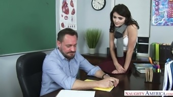 Hypnotically attractive Adria Rae offered love-making to her coach permanently degrees