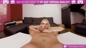 VR Adult material - My sizzling wife Cherub Wicky cums early