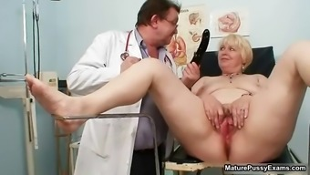 Blond nan gets her pussy examed part6
