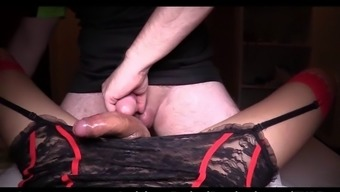 lboy in scarlet stockings drill so hard