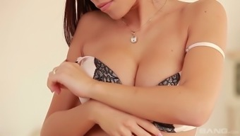 Wickedly sizzling Czech splendor Satin Blossom loves petting her luscious twat